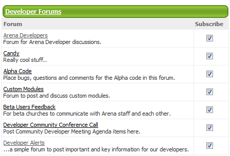 my developer forum subscriptions